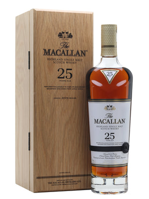 Macallan 25 Year Old Sherry Oak 2019 Release Speyside Single Malt Scotch Whisky - CaskCartel.com