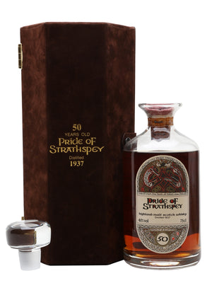 Pride of Strathspey 1937 50 Year Old Crystal Decanter Highland Single Malt Scotch Whisky | 700ML at CaskCartel.com