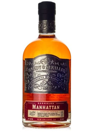 "Handy Schiller Sazerac Rye ""Barrel Aged"" Manhattan 