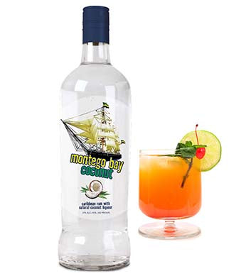 Montego Bay Carribean Rum Coconut Liqueur