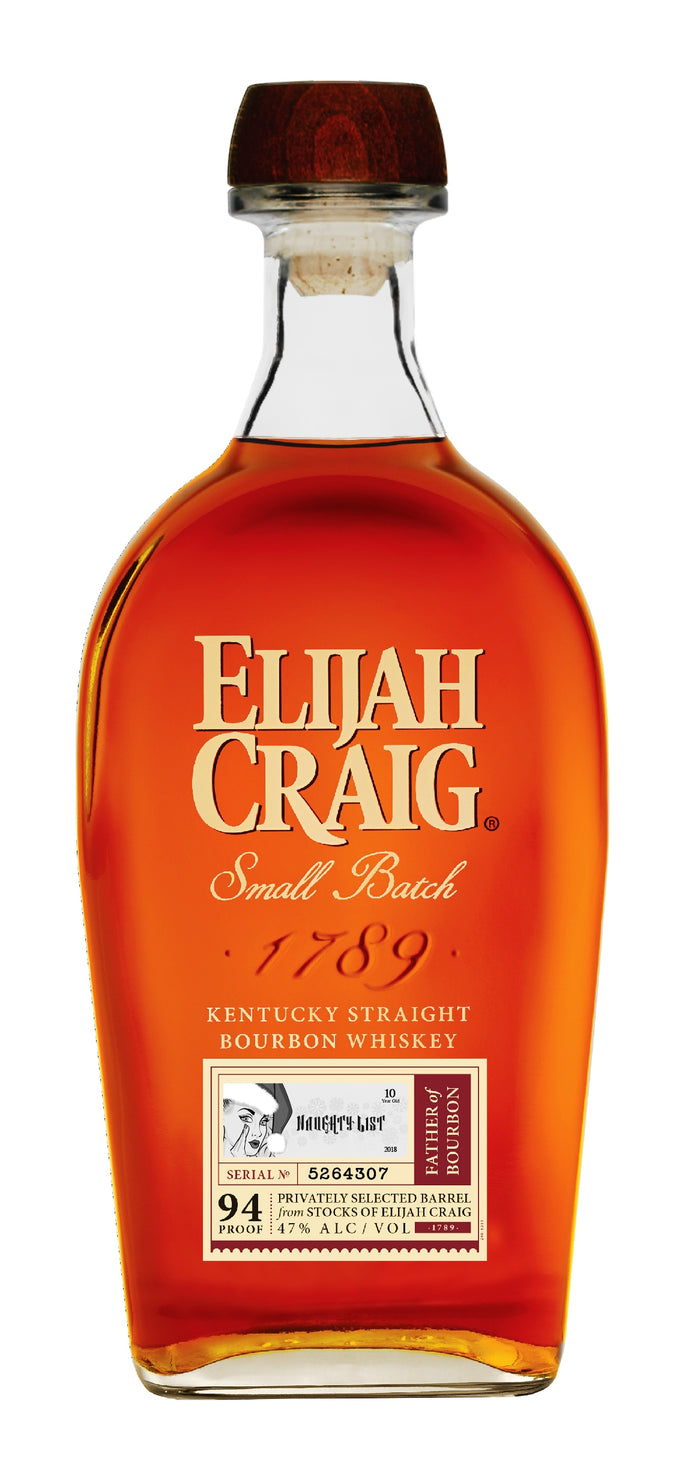 "Elijah Craig 10 Year Single Barrel ""Naughty List"" Limited Release"