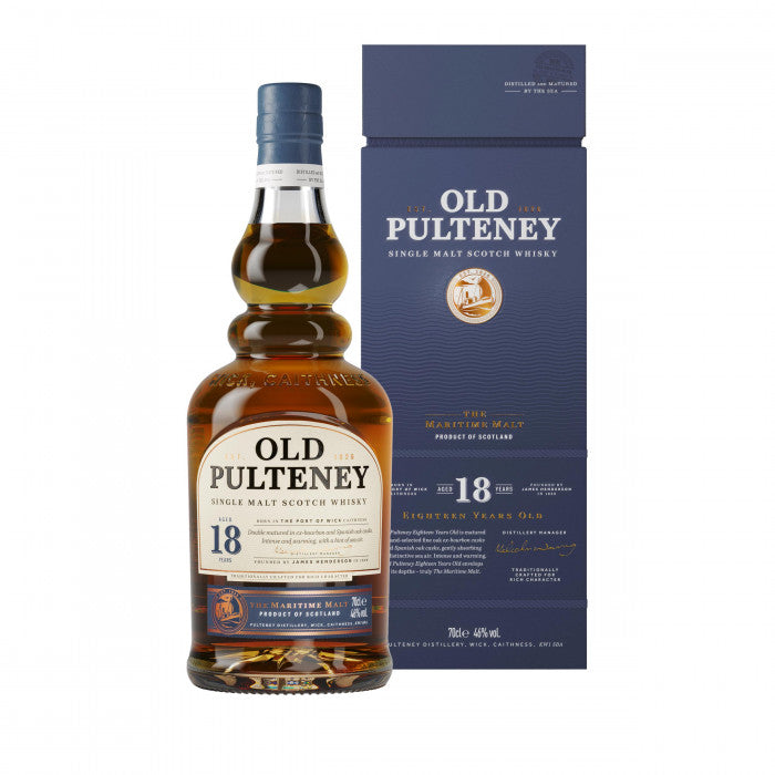 Old Pulteney 18 Year Old Single Malt Scotch Whisky