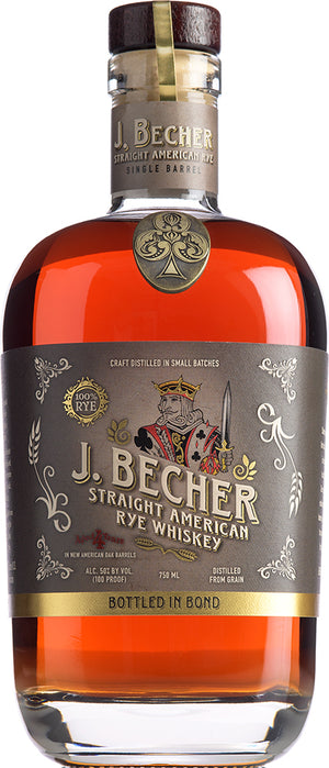 J. Becher Straight Bottled in Bond Rye Whiskey