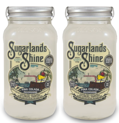 Sugarlands Shine Pina Colada Moonshine (2) Bottle Bundle