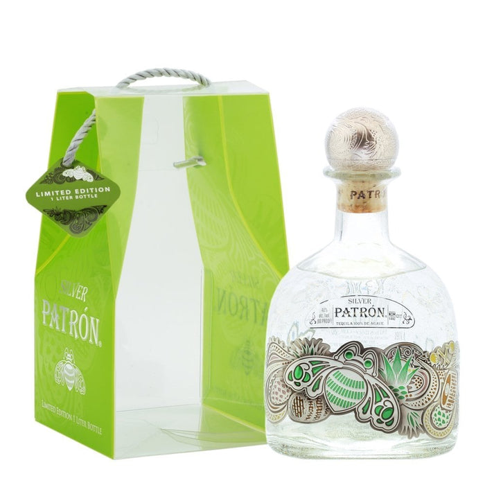 Patron Silver Tequila 1L  Limited Edition W/Bag