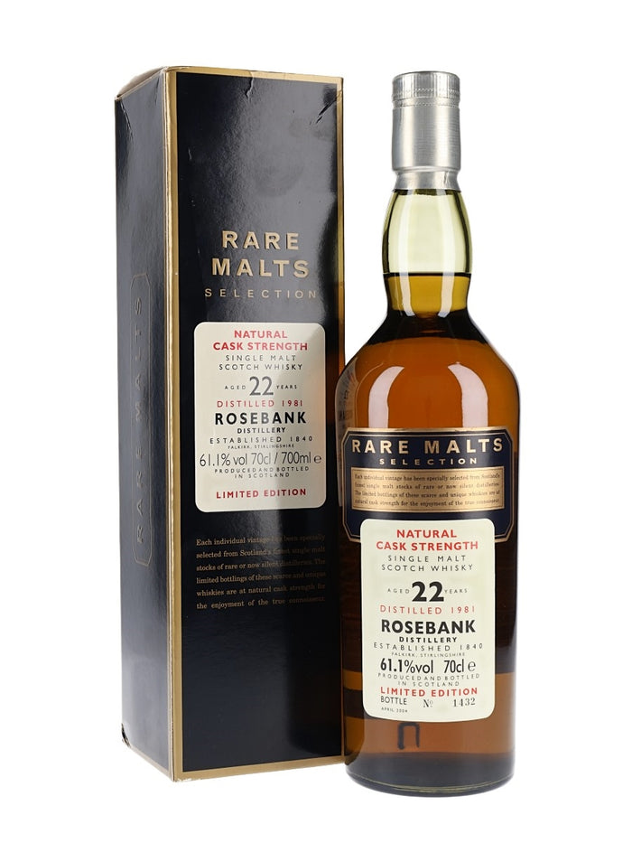 Rosebank 1981 22 Year Old Rare Malts Single Malt Scotch Whisky