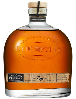Redemption 10 Year Old Barrel Proof Straight Rye Whiskey  - CaskCartel.com