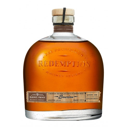 Redemption 9 Year Old Barrel Proof Bourbon Whiskey