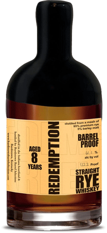 Redemption 8 Year Old Barrel Proof Straight Rye Whiskey - CaskCartel.com