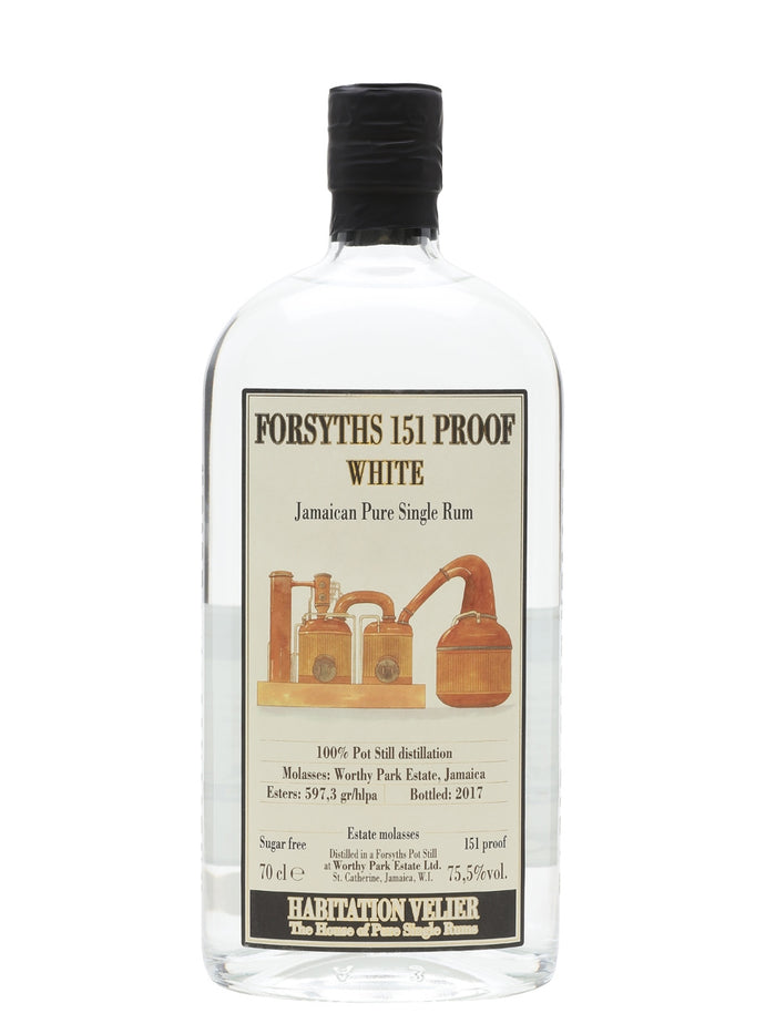 Habitation Velier Forsyths White 151 Proof Rum