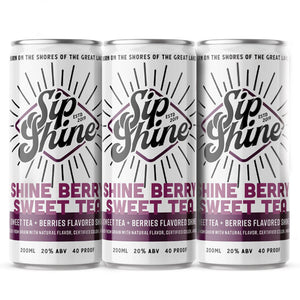 Sip Shine Shineberry Sweet Tea | 4-Pack 200ml at CaskCartel.com