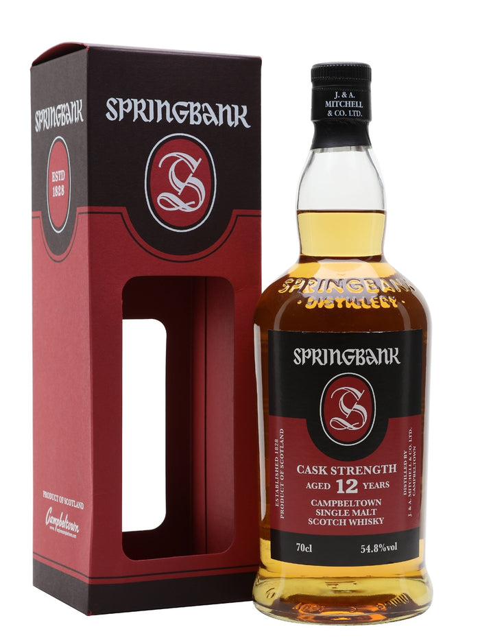 Springbank 12 Year Single Malt Scotch 2019 Whisky