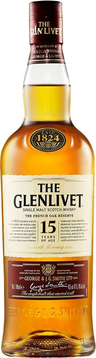 The Glenlivet 15 Year Old French Oak Reserve Single Malt Scotch Whisky