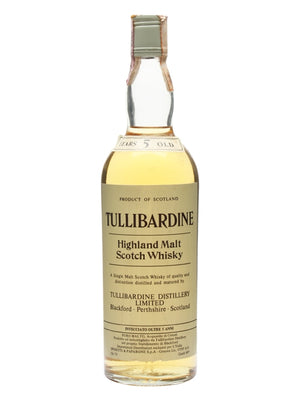 Tullibardine 5 Year Old Bot.1980s Highland Single Malt Scotch Whisky | 700ML at CaskCartel.com