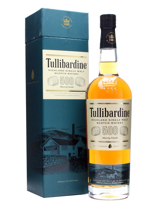 Tullibardine 500 Sherry Cask Finish Whiskey