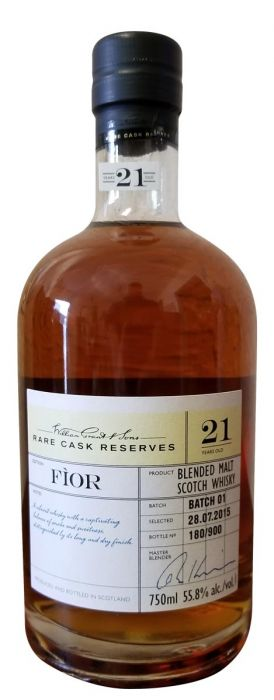 William Grant 21 Year Old Rare Cask Reserves 'Fior' - CaskCartel.com