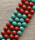 Load image into Gallery viewer, Atlas Turquoise Red Necklace
