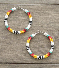 Load image into Gallery viewer, Yukon Beaded Hoops