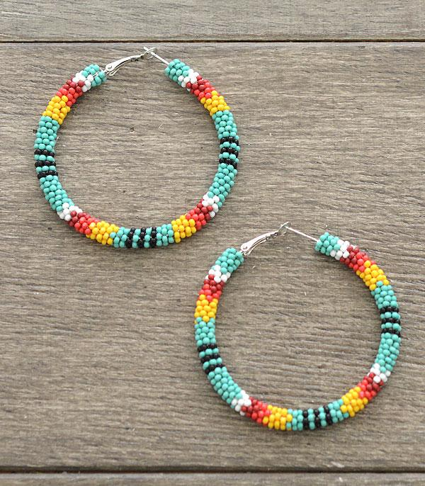 Yukon Beaded Hoops