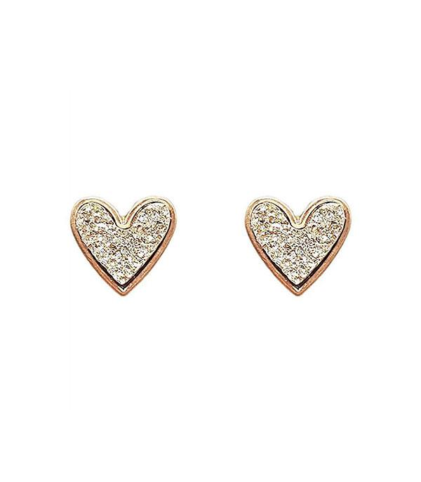 Heartford Druzy Earring