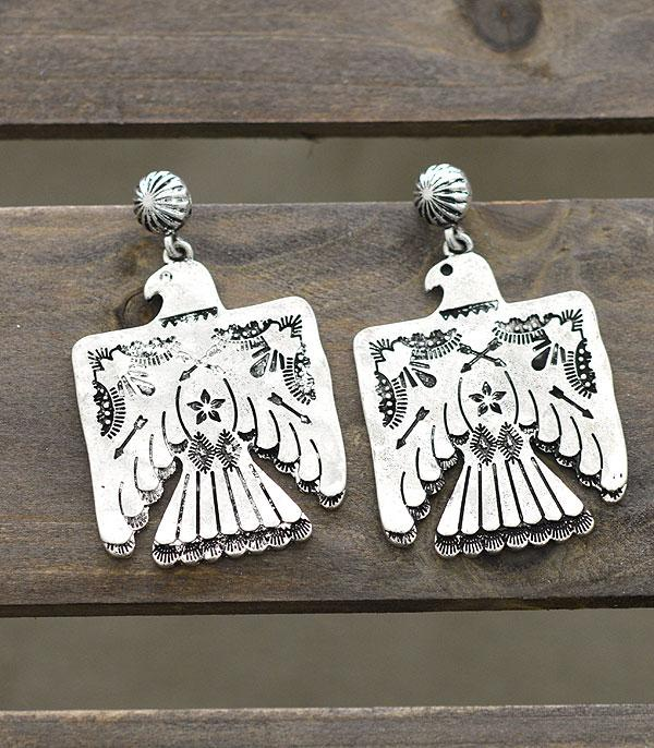 Stigler Silver Thunderbird Earrings