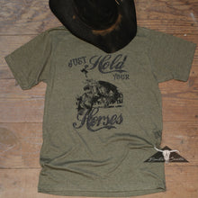 Load image into Gallery viewer, Hold Your Horses T-shirt Military Green - Benita Ceceille