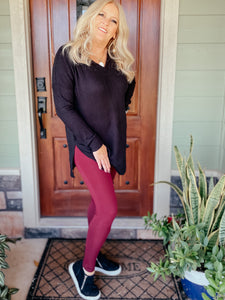 Leo Maroon Leggings
