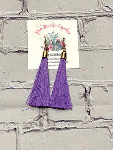 LAMAR SINGLE TASSEL BOHO FASHION EARRINGS