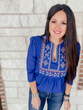 Load image into Gallery viewer, Victoria Blue Blouse