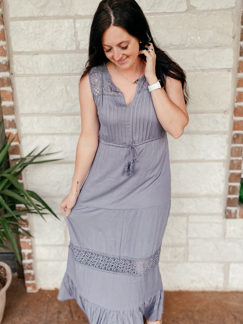 Santana Ruffle Maxi Dress