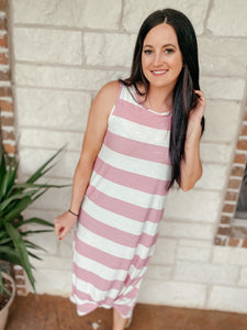 Lucy Striped Midi Dress