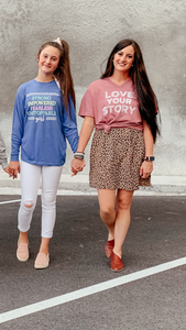 UNSTOPABLE GIRL LONG SLEEVE FUNFETTI TEE