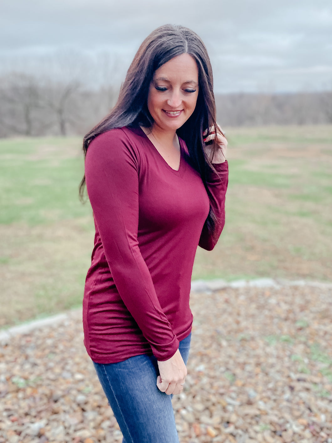 Bella Maroon Long Sleeve
