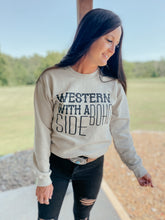 Load image into Gallery viewer, Western with a Boho Side Sweatshirt