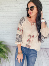Load image into Gallery viewer, Perry Blush Bohemian Top