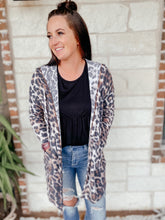 Load image into Gallery viewer, Kaitlyn Leopard Hooded Cardigan