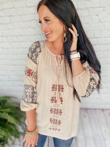 Perry Blush Bohemian Top