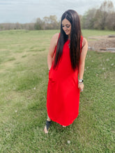 Load image into Gallery viewer, Tracy Red Maxi Dress