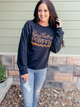 Load image into Gallery viewer, Hey There Pumpkin Black Sweatshirt