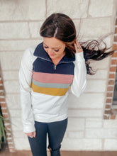 Load image into Gallery viewer, Reba Cream Striped Pullover