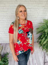 Load image into Gallery viewer, Felicia Pink Floral Print Top