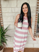 Load image into Gallery viewer, Lucy Striped Midi Dress