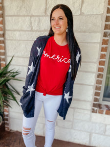 America Red Graphic Tee