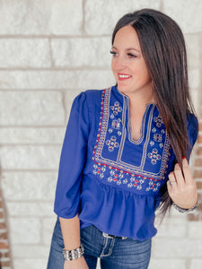 Victoria Blue Blouse