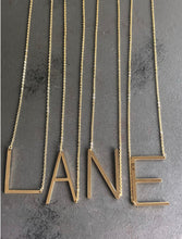 Load image into Gallery viewer, LANCASTER LARGE GOLD LETTER NECKLACE