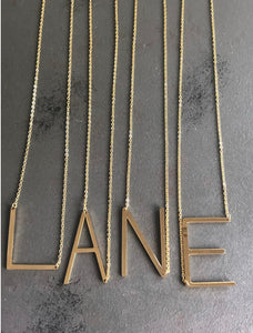 LANCASTER LARGE GOLD LETTER NECKLACE