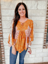 Load image into Gallery viewer, Olivia Floral Boho Top
