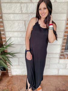 Lakelyn Black Summer Maxi Dress