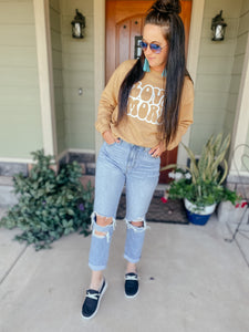 Love More Gold Graphic Sweatshirt
