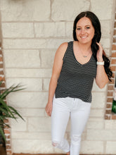 Load image into Gallery viewer, Nila Black Striped Tank Top
